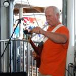 Clark Downs on guitar